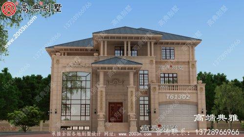 欧式三层豪华复式别墅设计全套图