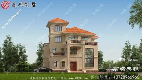 三层自建建筑设计图简单大气带复式大厅设计