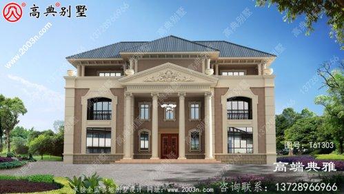 欧式典雅三层别墅设计全套图纸_三层别墅设计图