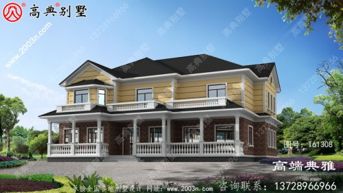 二层简约型欧式别墅设计图纸_农村二层别墅设计