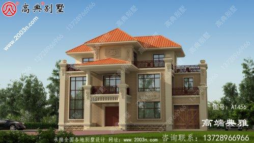 户型方正的欧式三层自建别墅设计图纸