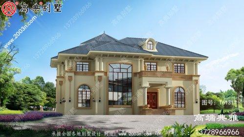 复式二层简欧别墅设计图纸_农村二层别墅设计