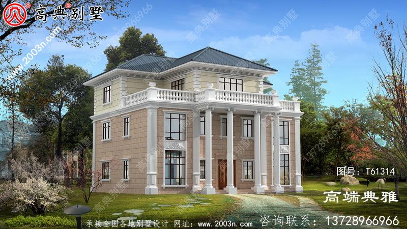 简欧三层别墅设计图纸_农村三层别墅设计