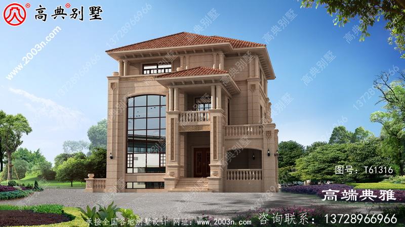 欧式三层复式别墅设计全套图纸_三层别墅设计图纸