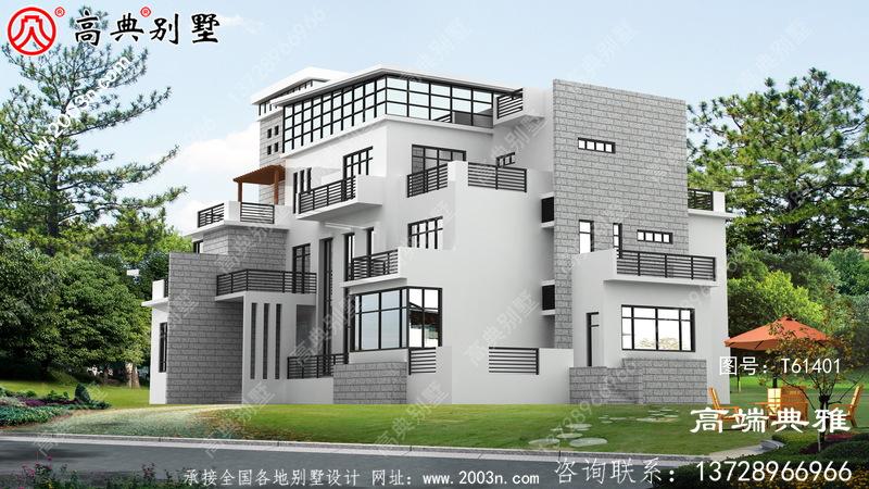 现代风四层别墅设计全套图纸_四层别墅设计图纸