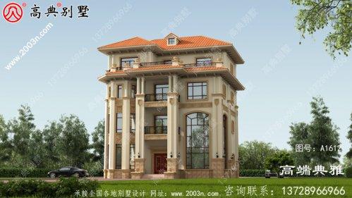 豪华欧式四层楼房设计图,含外观图片,自建四