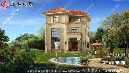 三层欧式别墅设计施工图纸及效果图_农村房屋设