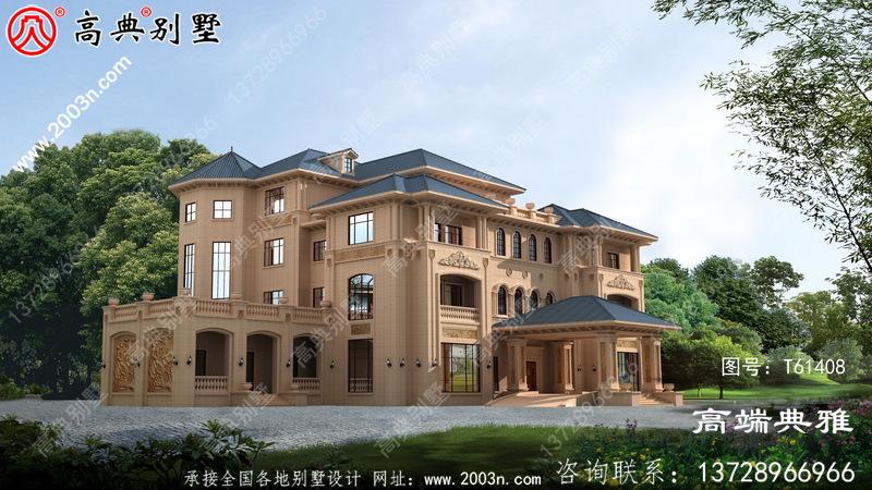 欧式四层豪华别墅设计全套图纸_别墅设计图纸