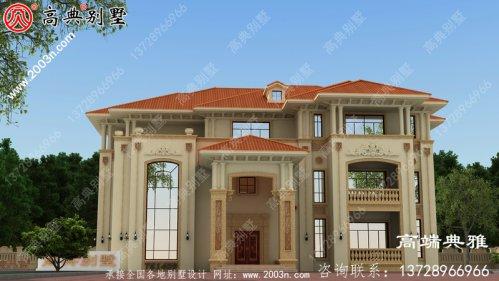 欧式三层豪华别墅设计全套图纸_三层别墅设计图