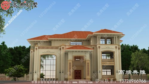 三层欧式豪华别墅设计全套图纸_别墅设计图纸