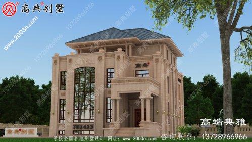 三层豪华欧式别墅设计全套图纸_别墅设计图纸