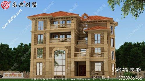 欧式四层别墅设计全套图纸_别墅设计图纸