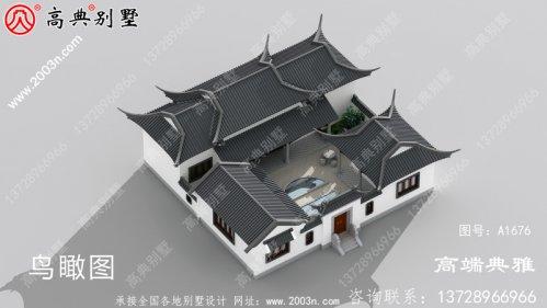 单层中式别墅设计图,建在农村就