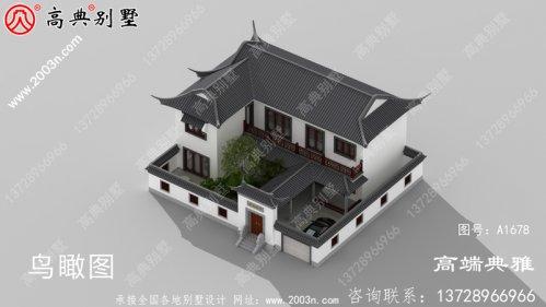 漂亮又简易的中式二层楼房设计图纸,房型还好