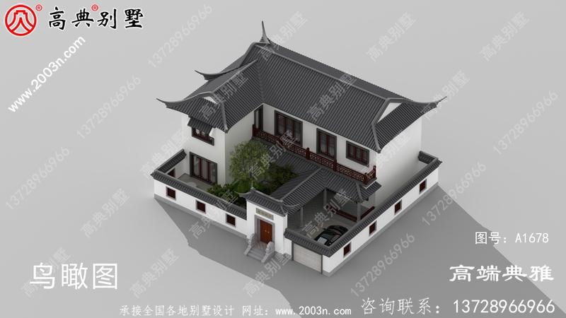 漂亮又简易的中式二层楼房设计图纸,房型还好用