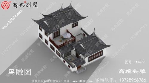 漂亮简单的两层建筑设计图,中式也很实用。