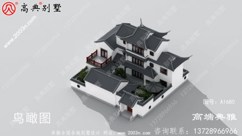 三层乡村别墅的设计, 占地249平方米,美观实用