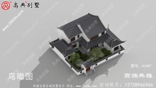 农村房屋设计图,造价在40万内,别墅造型结构精