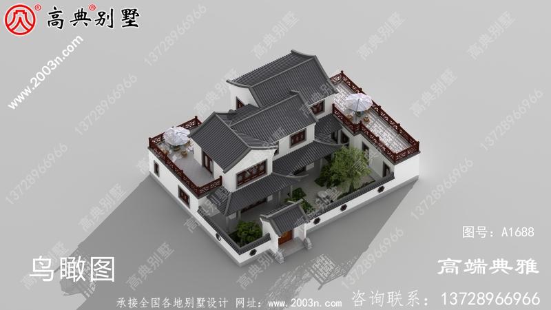 中式乡村二层别墅设计图,简洁又大气时尚潮流