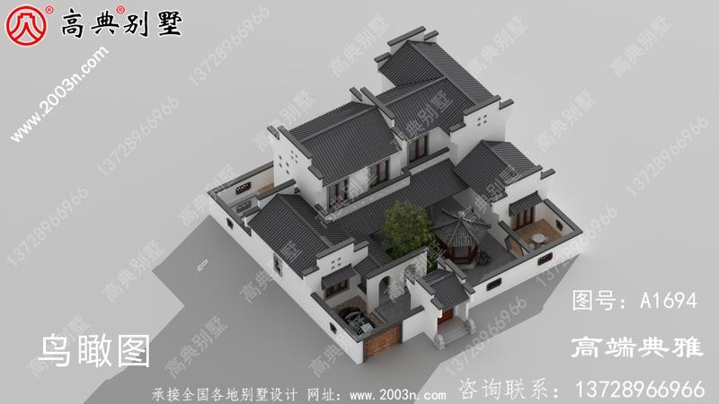 最美丽的中式二层大楼设计图,简单大气时尚