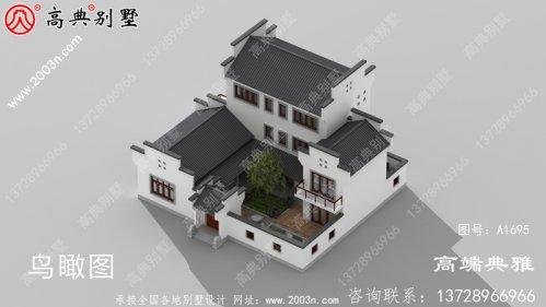 农村建设三层别墅设计图纸,含设计效果图