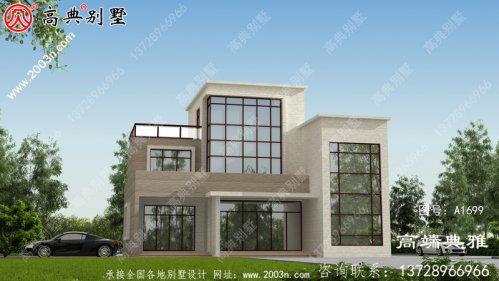 现代三层别墅设计图纸,包括效果