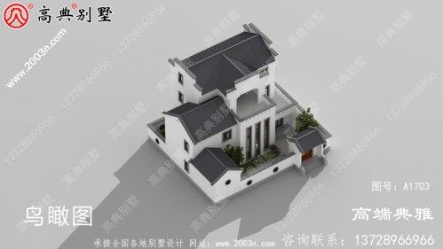 奢华中式三层建造别墅设计图纸及设计效果图