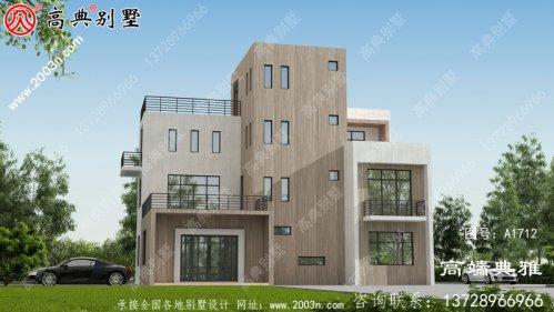 四层农村自建别墅设计,功能设计丰富完整