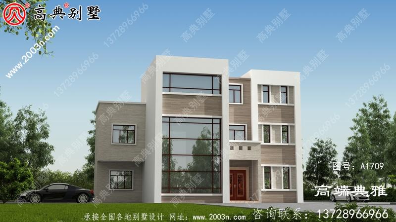 豪华现代三层自建别墅设计图纸及效果图