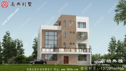 四楼农村建别墅设计图,功能设计丰富