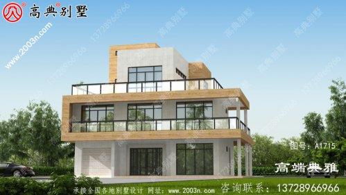 四层复式别墅设计工程图纸及设计效果图