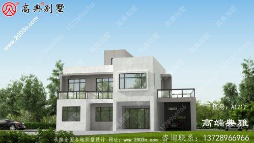 自营住宅二层别墅的设计图,外观