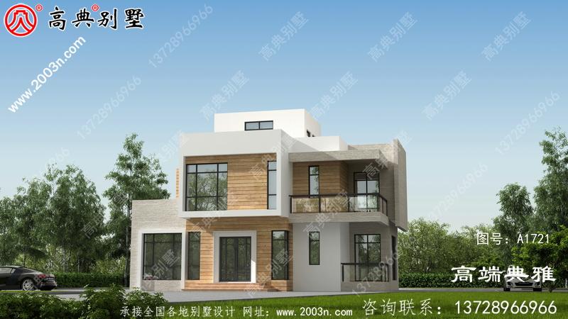 现代别墅的设计图,户型设计简单美观