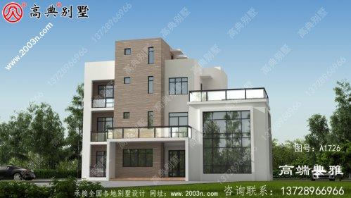 现代风格三层别墅房屋设计图,新