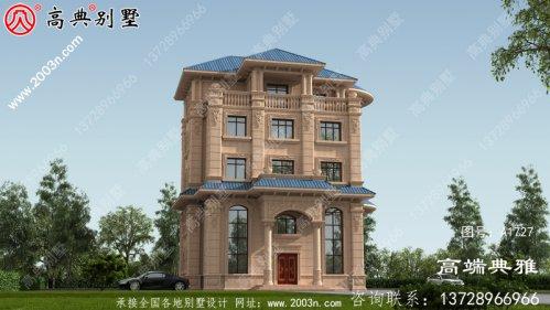 五层别墅的设计图和效果图展示了