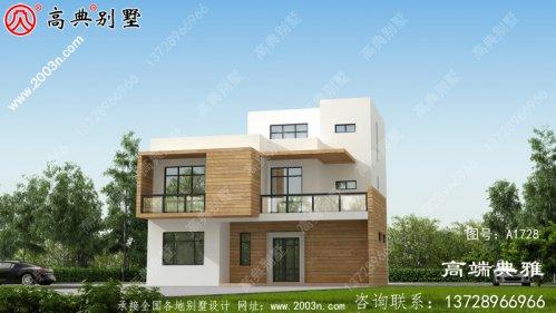 风格三层别墅住宅设计,新农村住