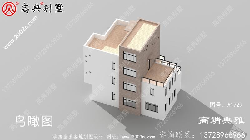 四楼现代别墅建筑设计图,有效图和一套施工图