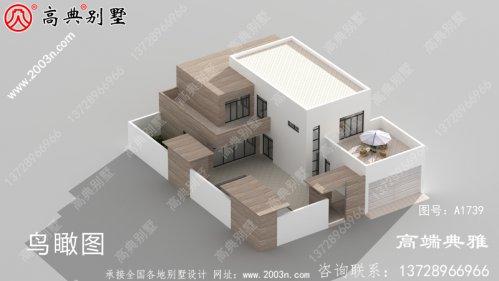奢华二层现代别墅设计工程图纸及设计效果图