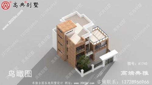 带外观效果图的三层复式别墅住宅设计图