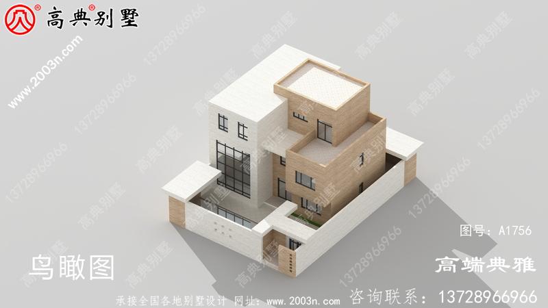 现代实用三层建筑外观图+全套建筑设计图纸