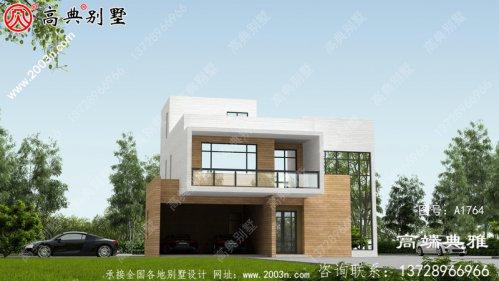 最新设计的三楼农村别墅图纸,带车库