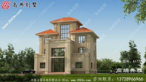 三层新农村小别墅设计图,占地面