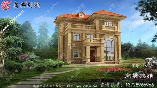 三层别墅设计图,平面功能分区明确,布置合理