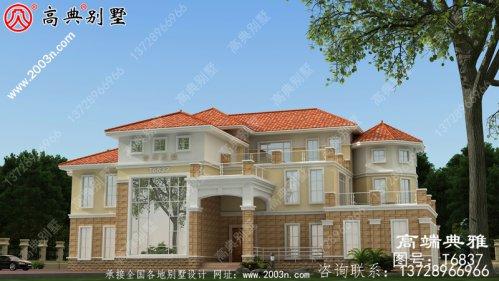 420平米三层别墅设计图纸,欧式古典带外型设计