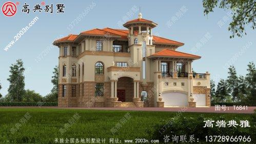 农村大户型欧式四层别墅工程设计