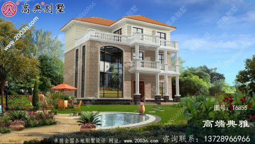 农村三层楼房的设计图,外观简单优雅