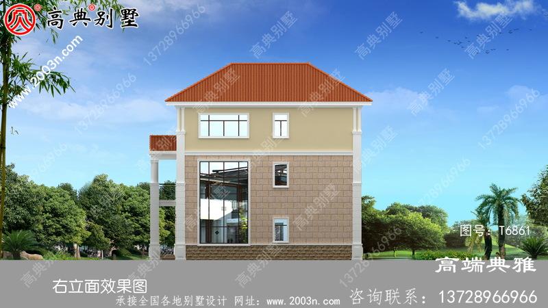 乡村五层楼房设计图,含外型照片