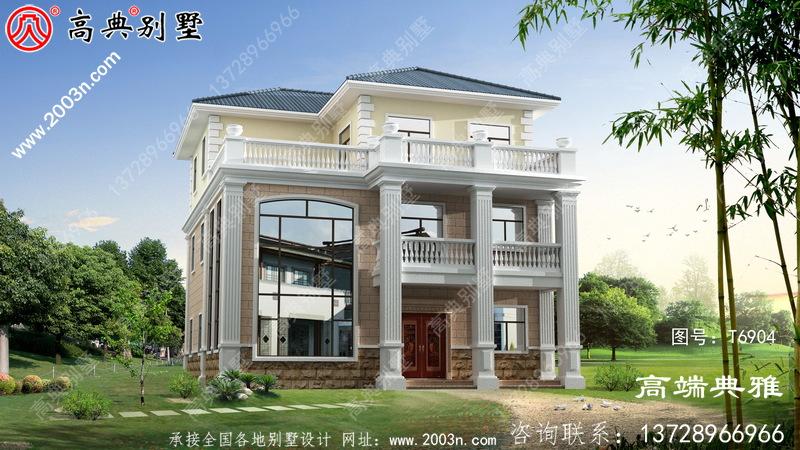 美丽实用的欧式三层别墅设计图纸,性价比卓越
