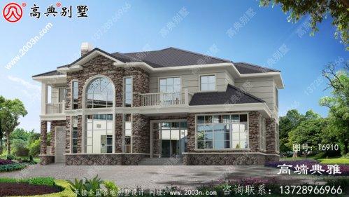 农村自建美式二层住宅设计图纸,效果图+施工图