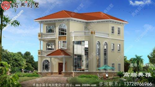 欧式三层别墅复式设计图纸和效果